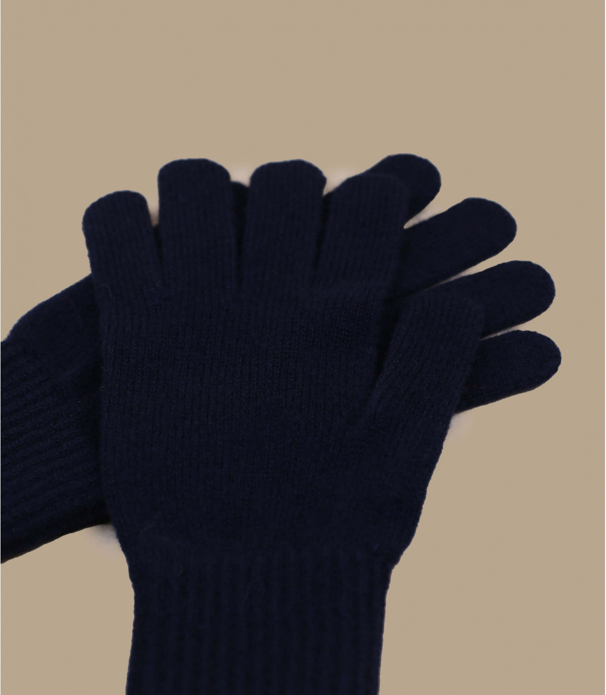 blue wool gloves