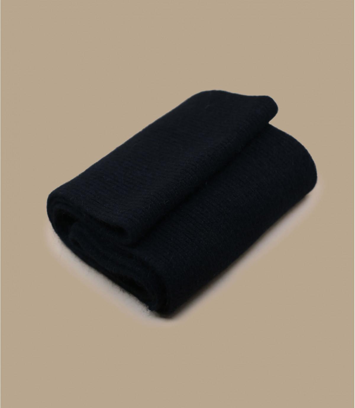 Black scarf lambswool Angora