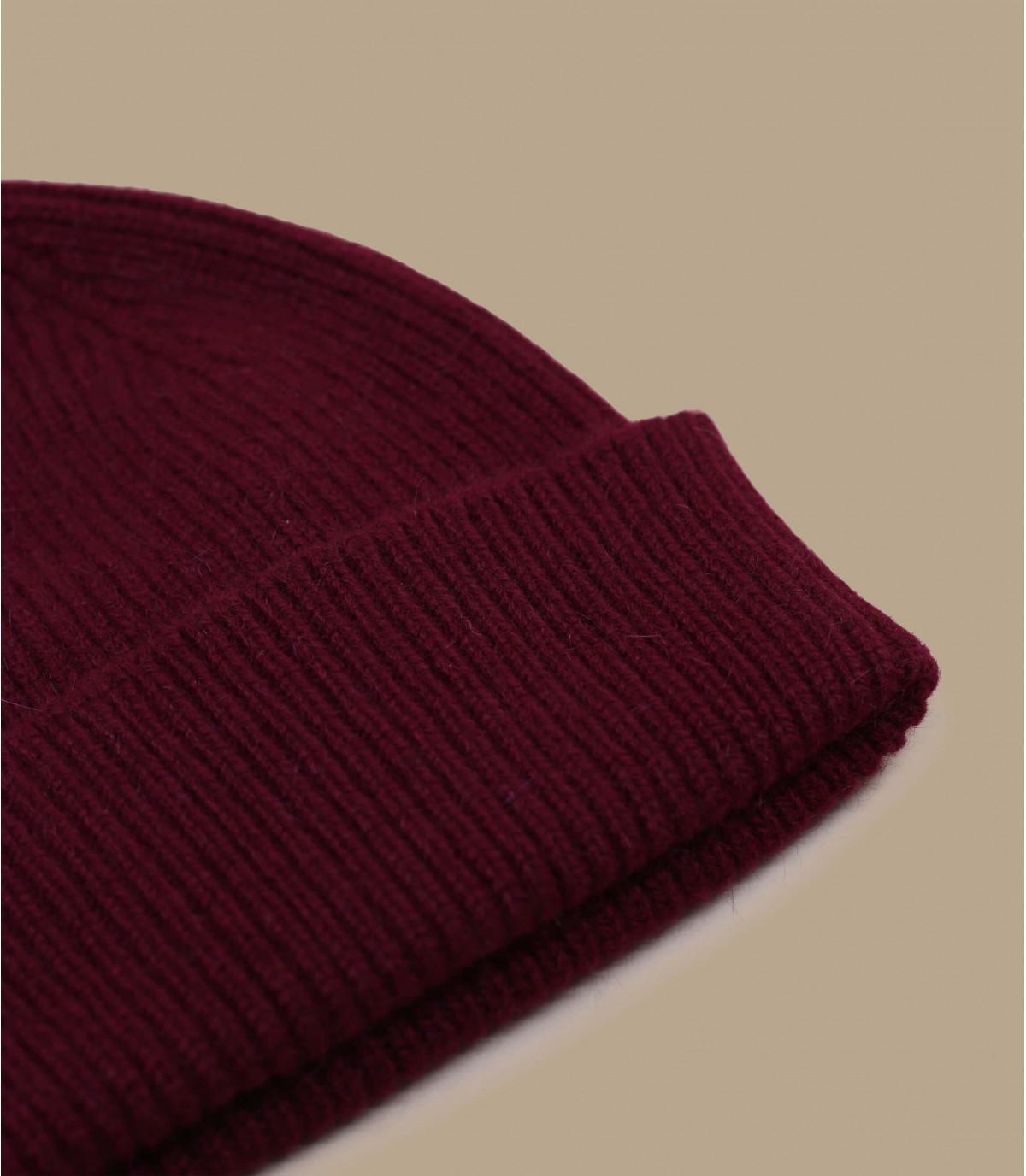 burgundy cuffed beanie wool angora