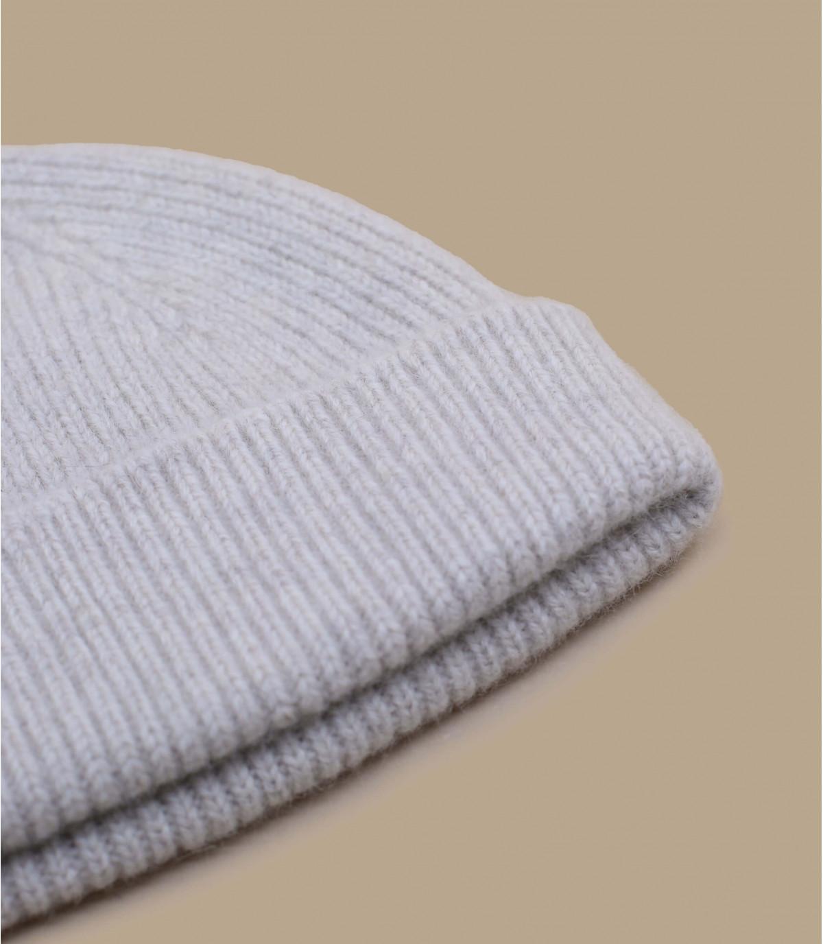 beige beanie wool
