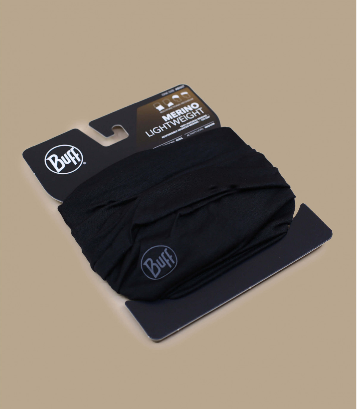 Détails Lightweight Merino Wool solid black - image 2