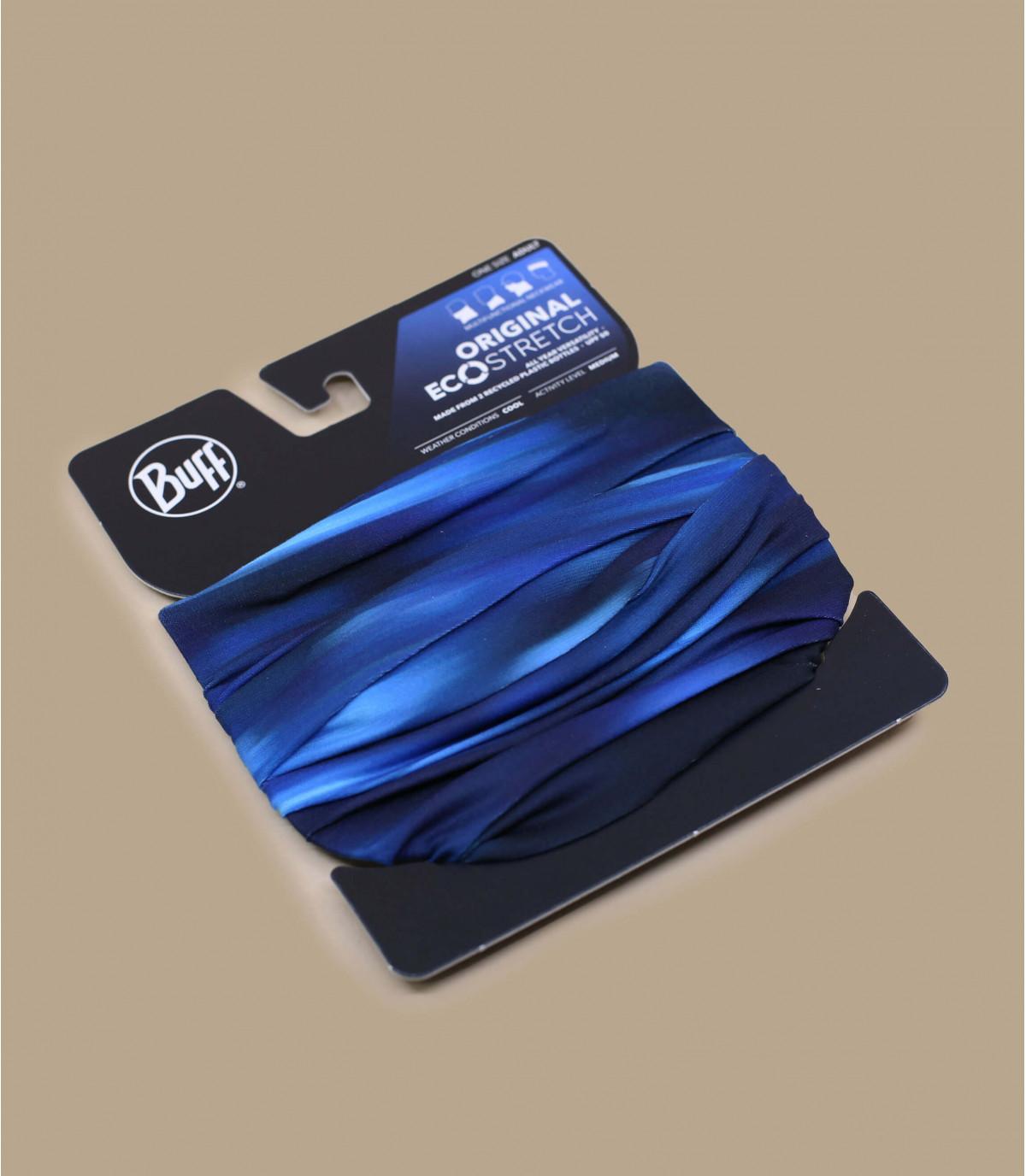 black blue Buff print