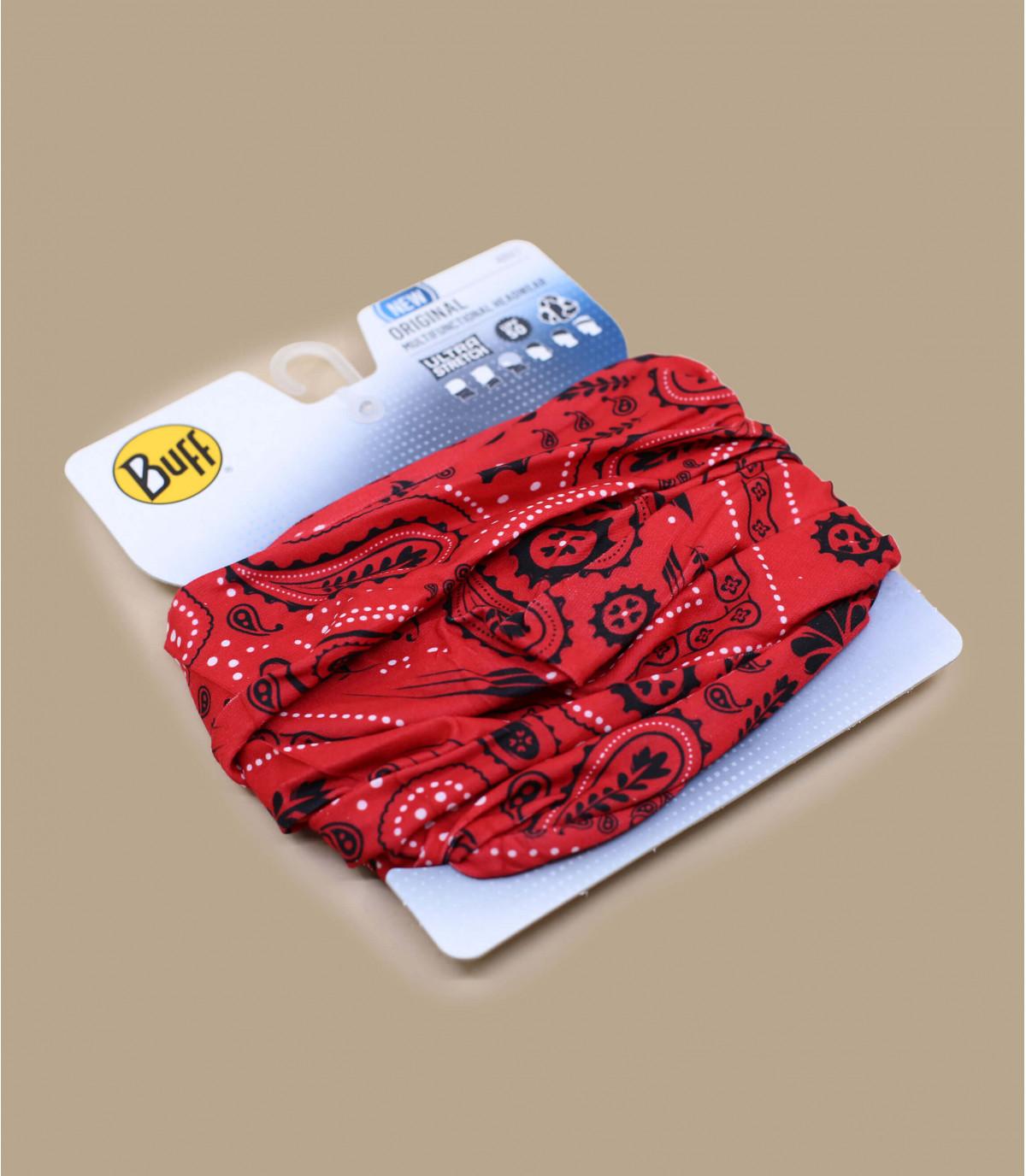 red Buff paisley pattern