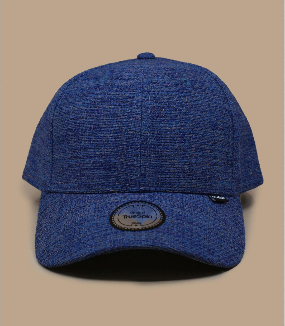Blue cotton canvas cap