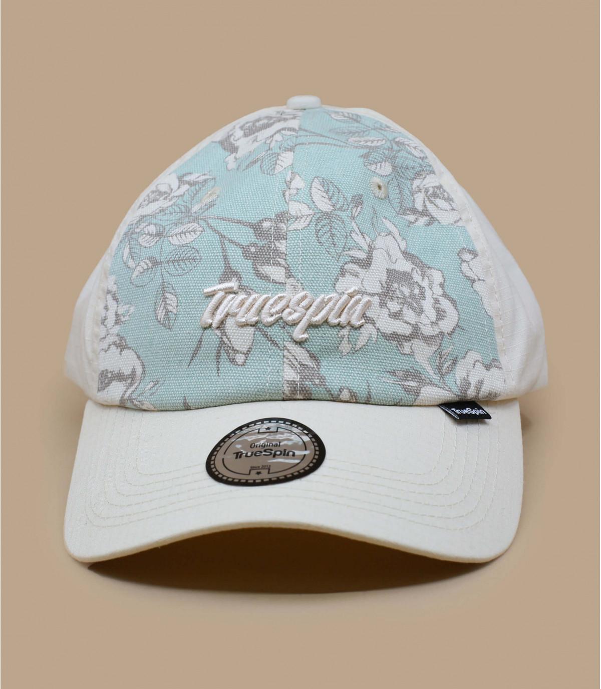 beige flowers cap
