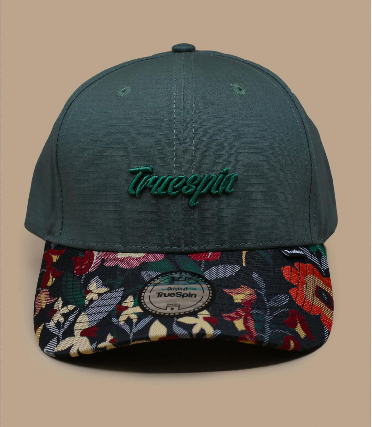Green cap flower pattern