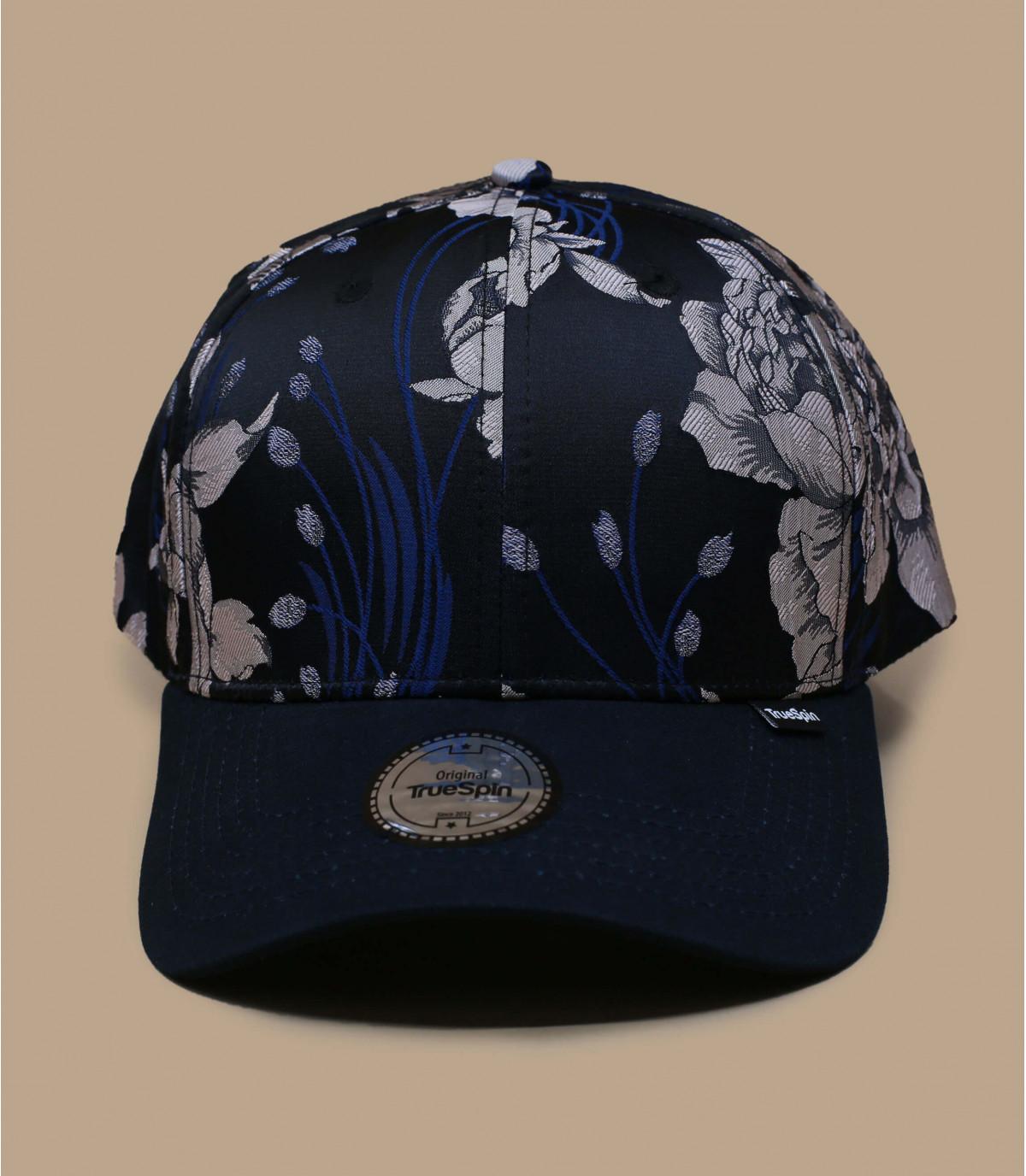 Blue flowers cap