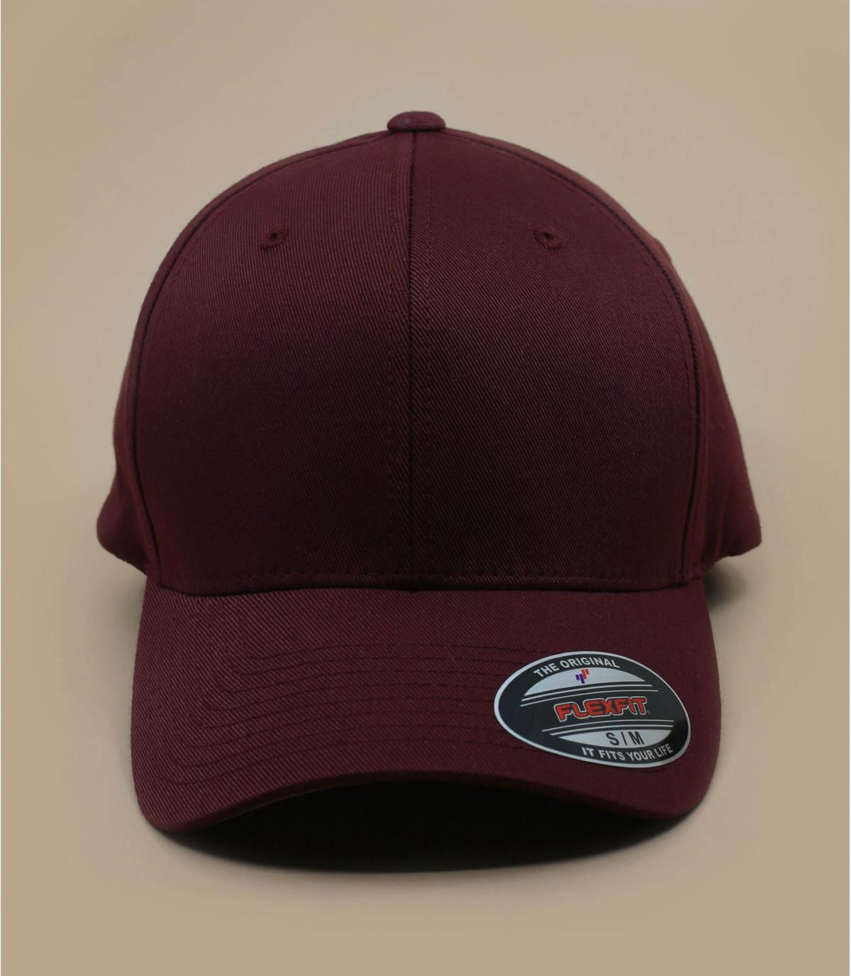 burgundy curve cap