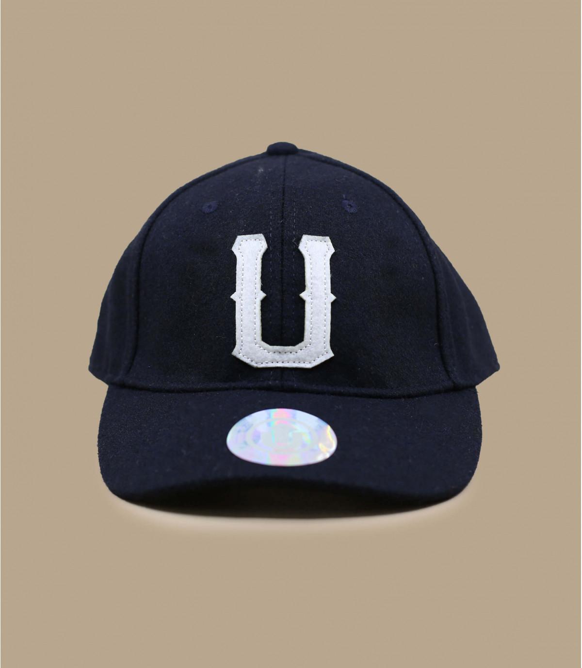 0769e91fcd435 Navy trucker cap - United baseball cap dark navy by Upfront.