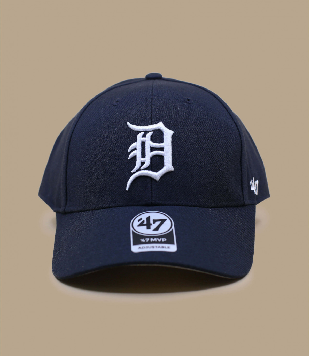 D navy blue curve cap