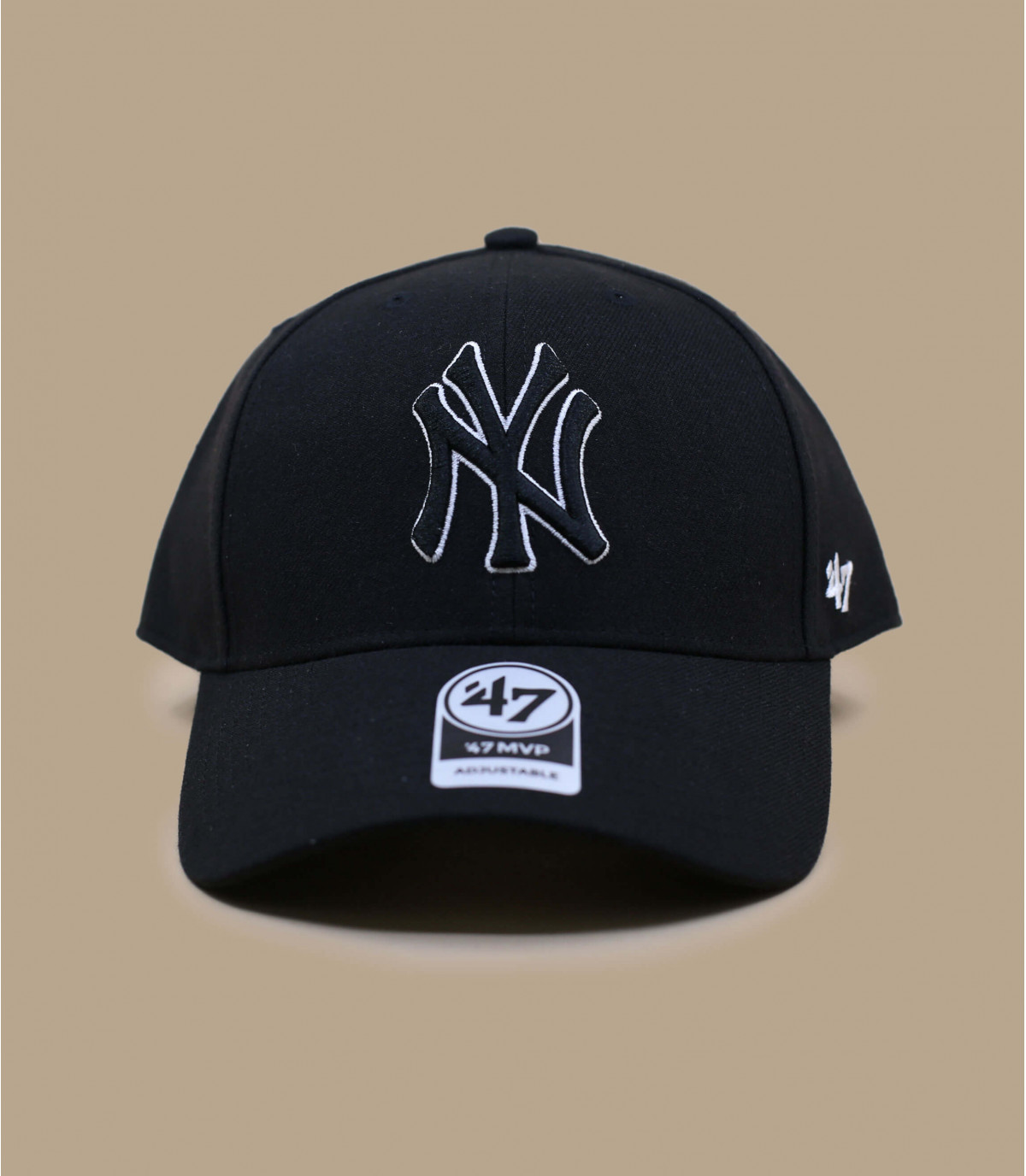 black NY cap wool