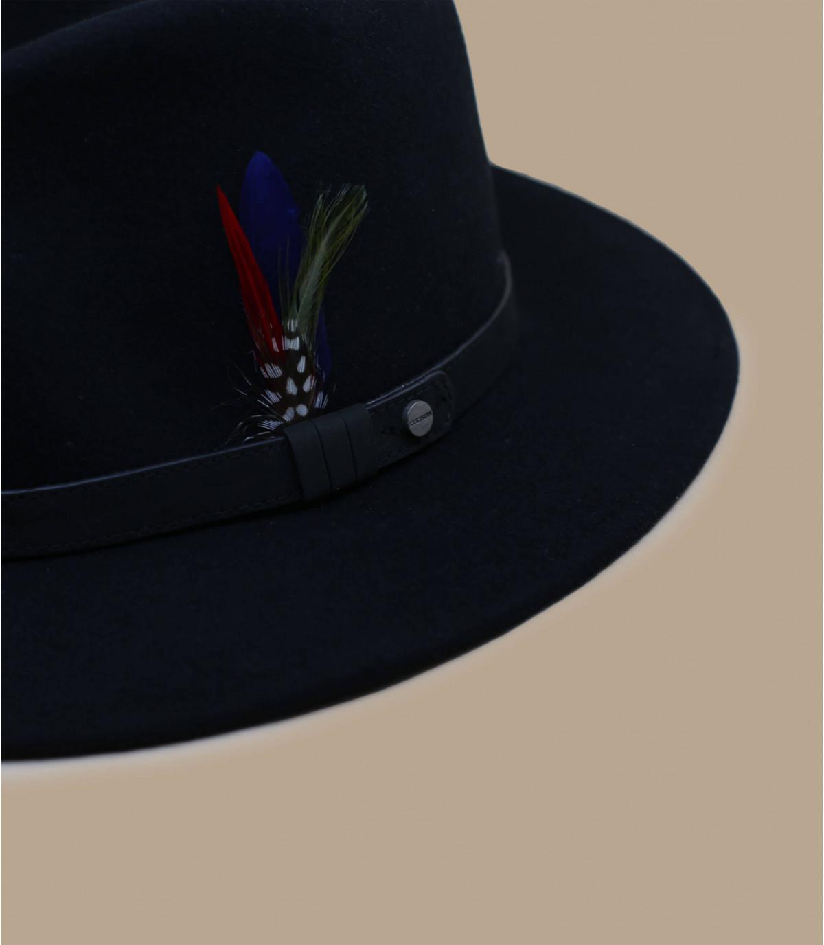 black fedora feather Stetson