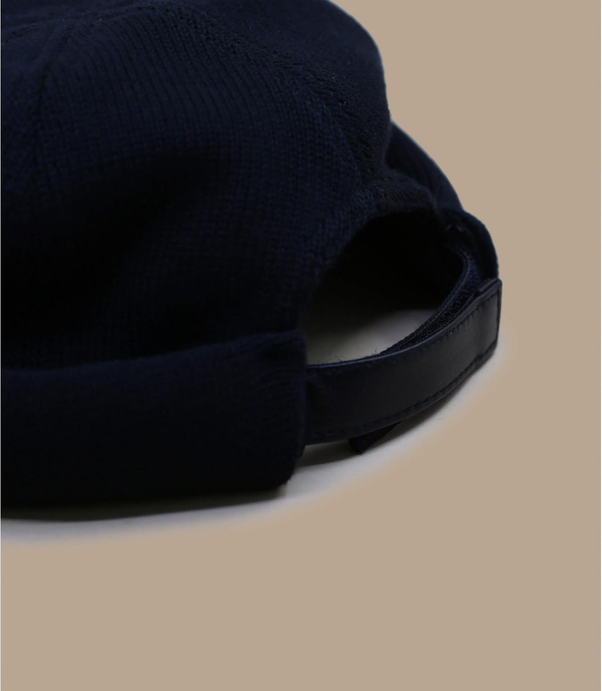 black cotton docker beanie