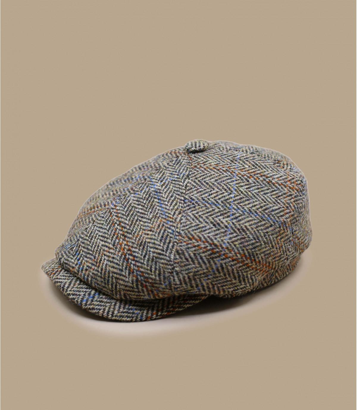 beige flat cap wool Stetson