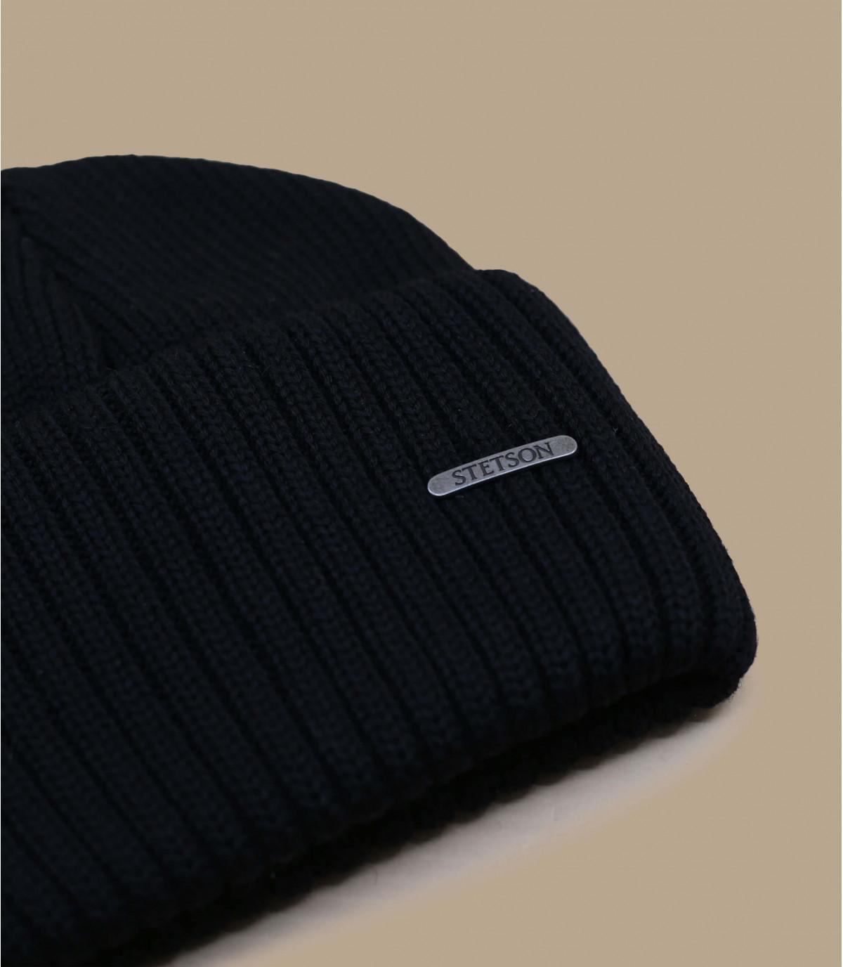 3c371b1a5501c Black beanie stetson - Northport black by Stetson.