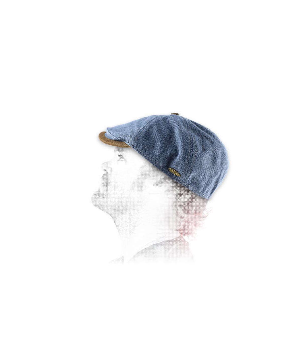 Flechet denim flat cap