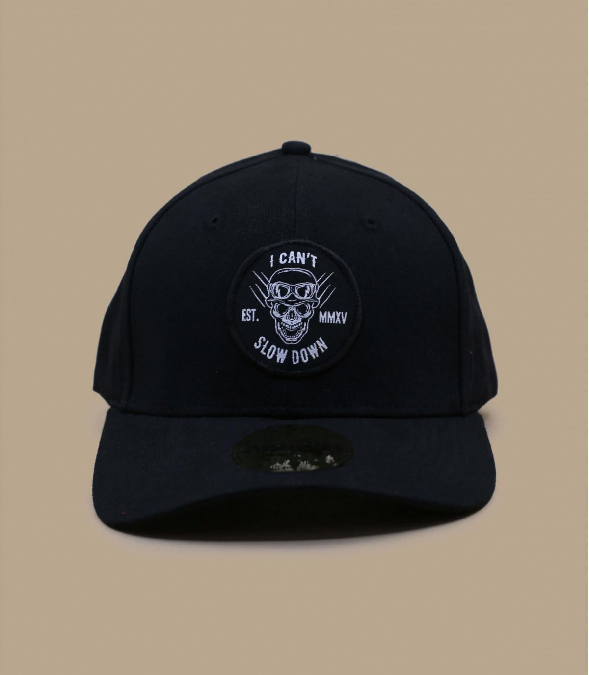 Black skeleton motorbike cap