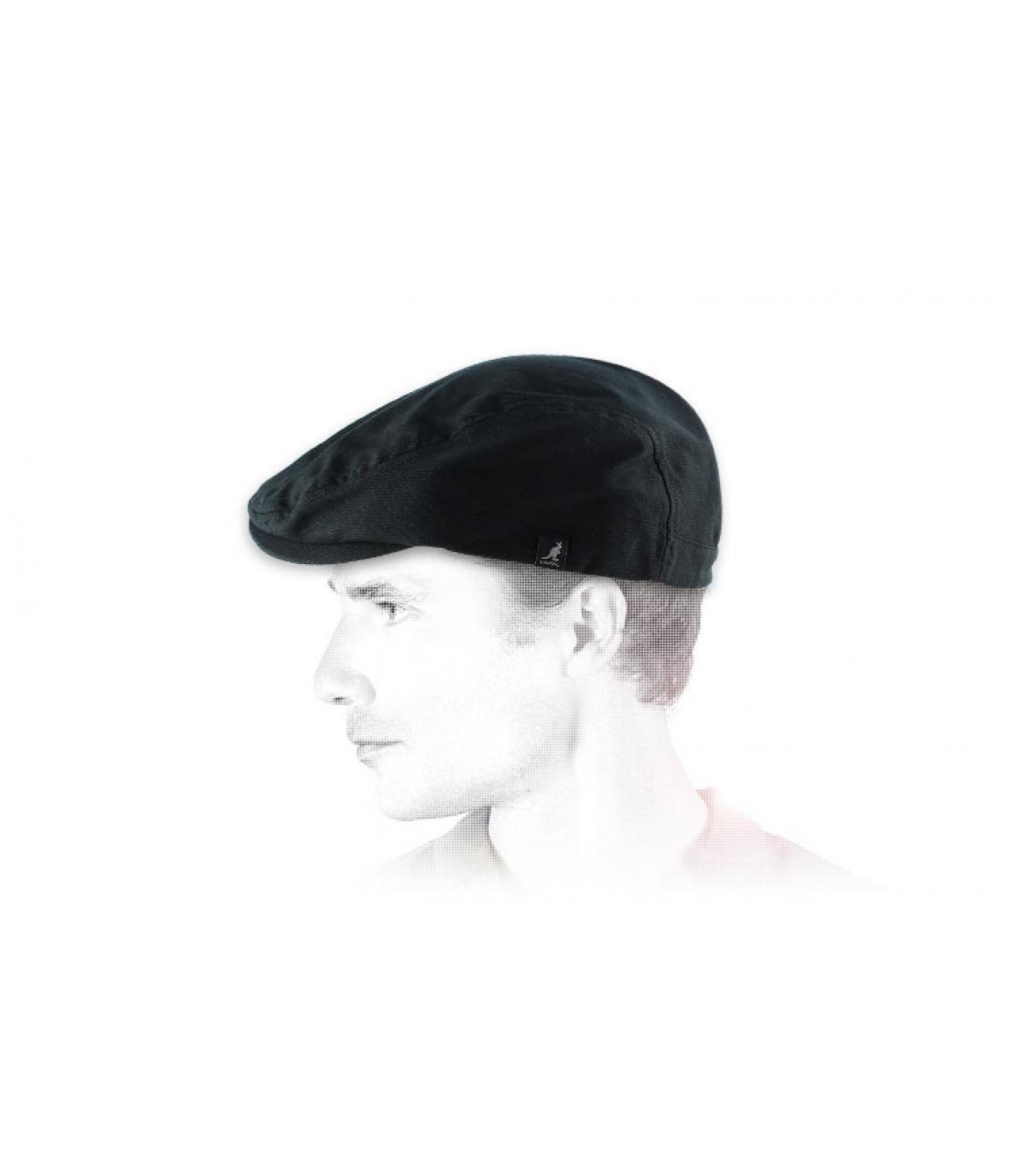 Black flat cap