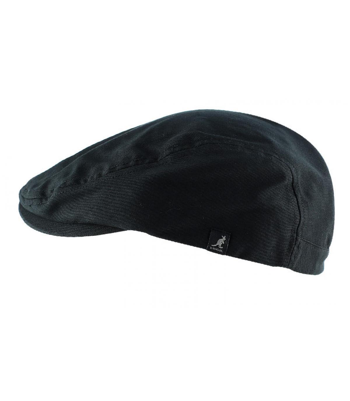 ... Black flat cap - Cotton cap black Kangol - image 2 ... 5b776e6fee8