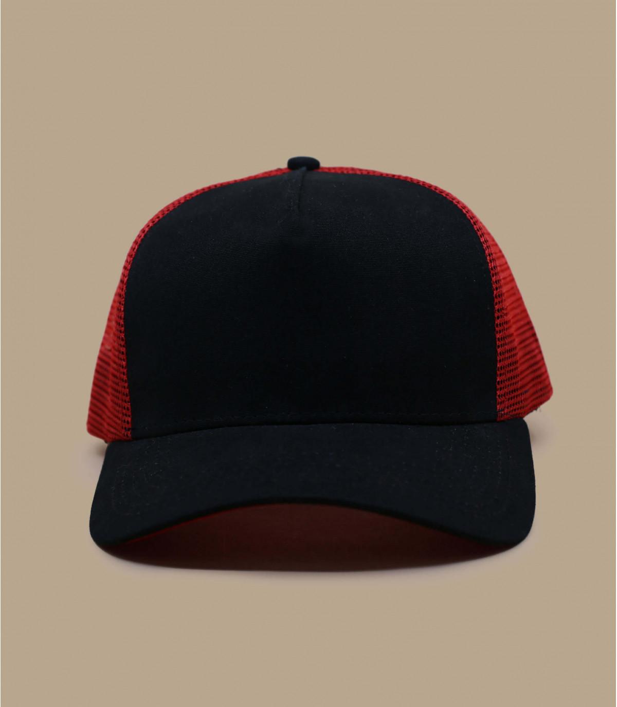 Trucker Blank black red