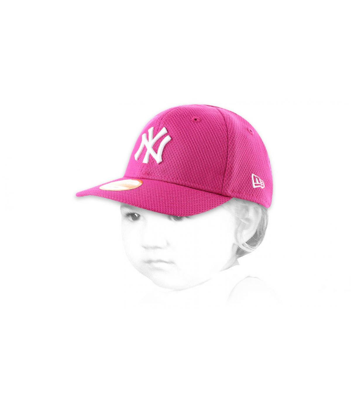 Pink NY cap kids