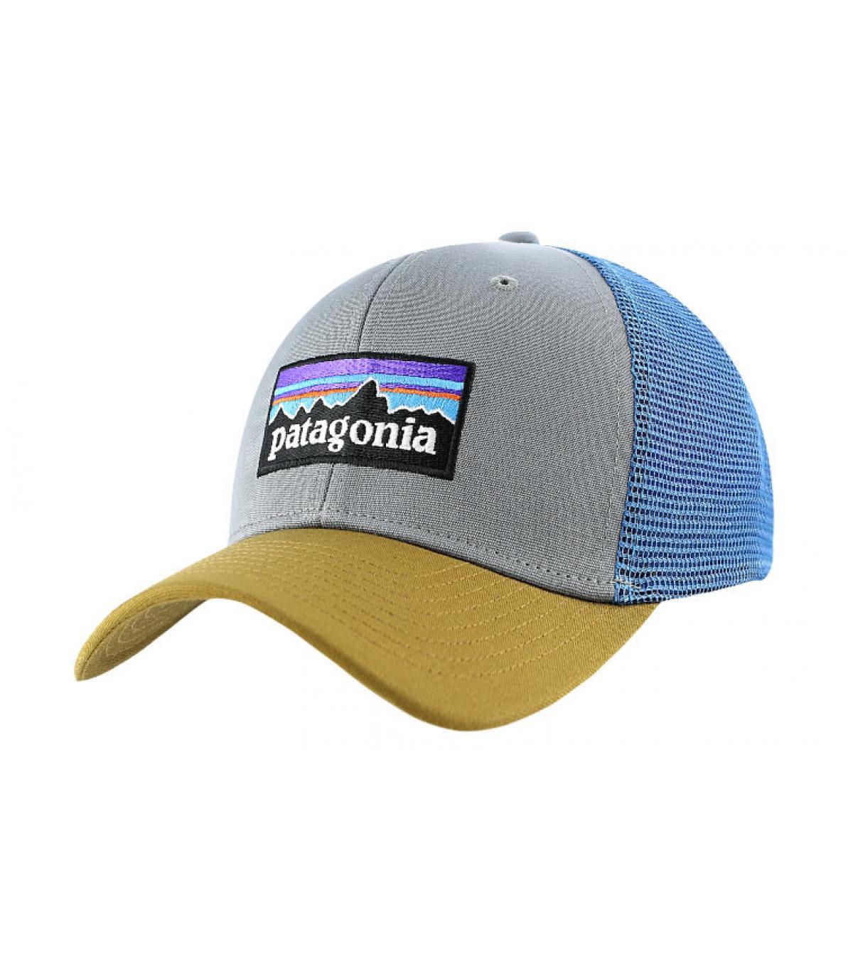 Grey trucker cap - P6 logo trucker hat feather grey by Patagonia ... acf5cdb55ef
