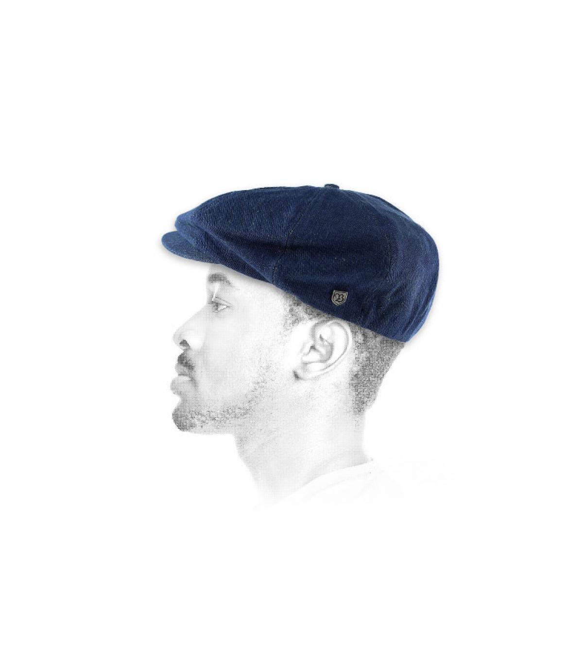 Denim newboys cap
