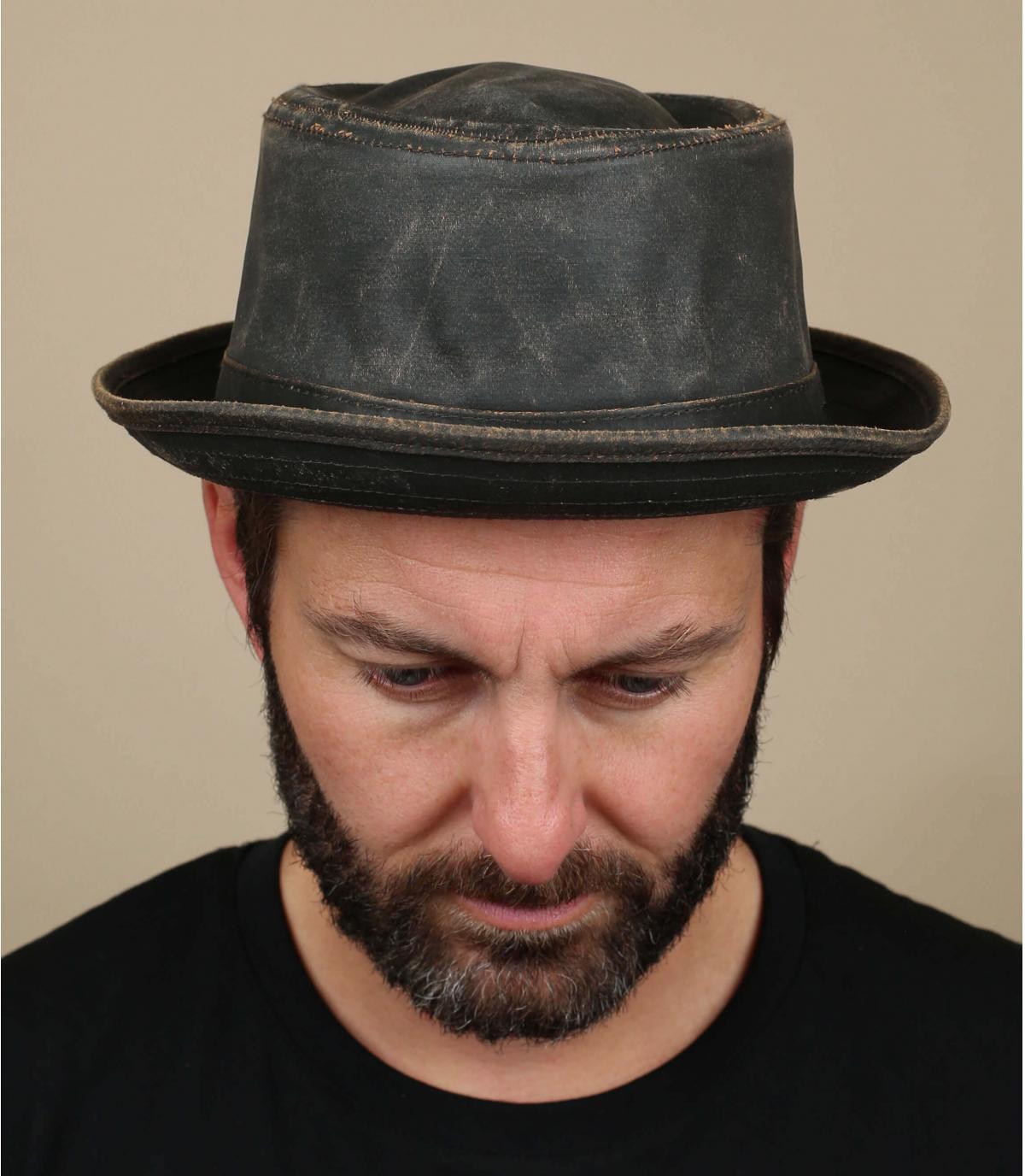 aged pork pie hat