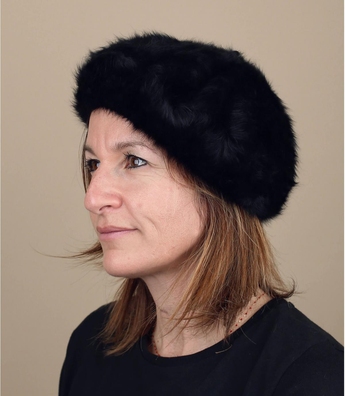 Angora wool beret