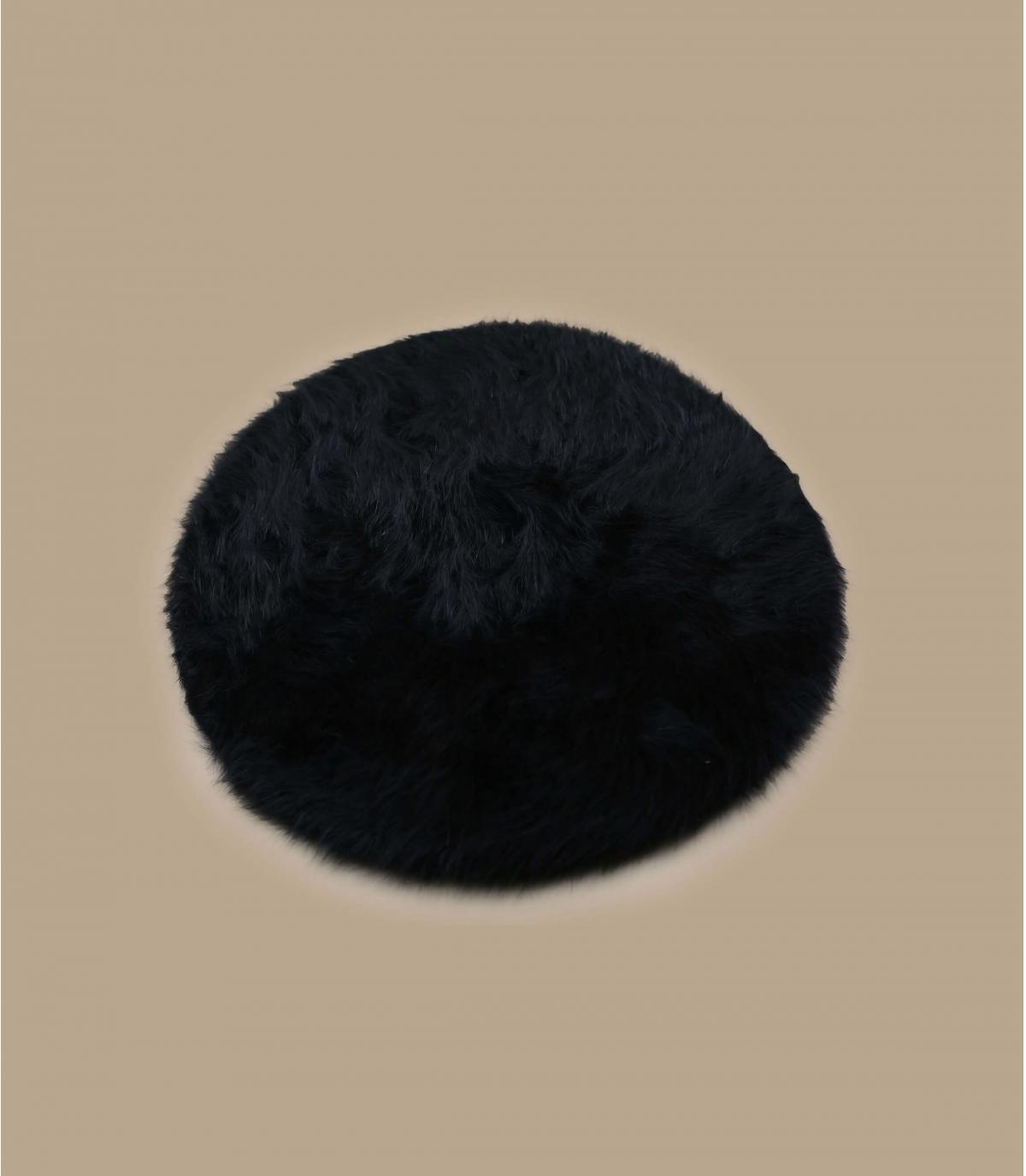 Détails Beret angora black - image 2