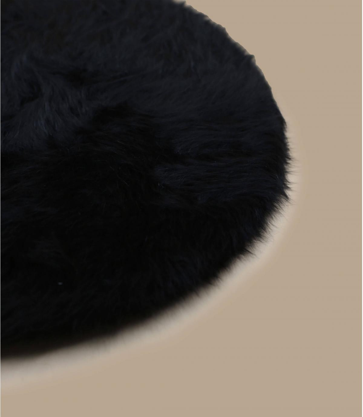 Détails Beret angora black - image 3