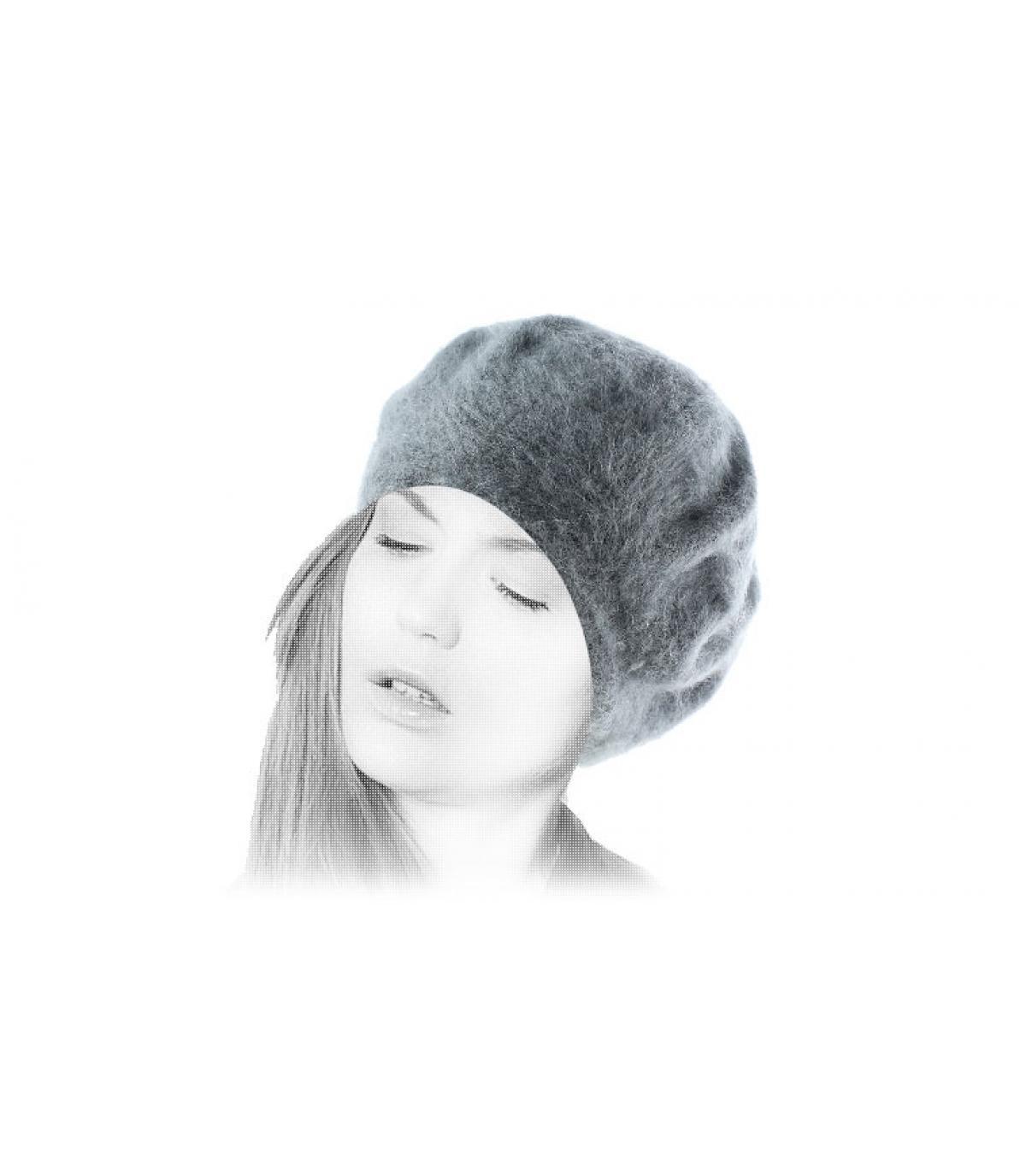 Angora beret women