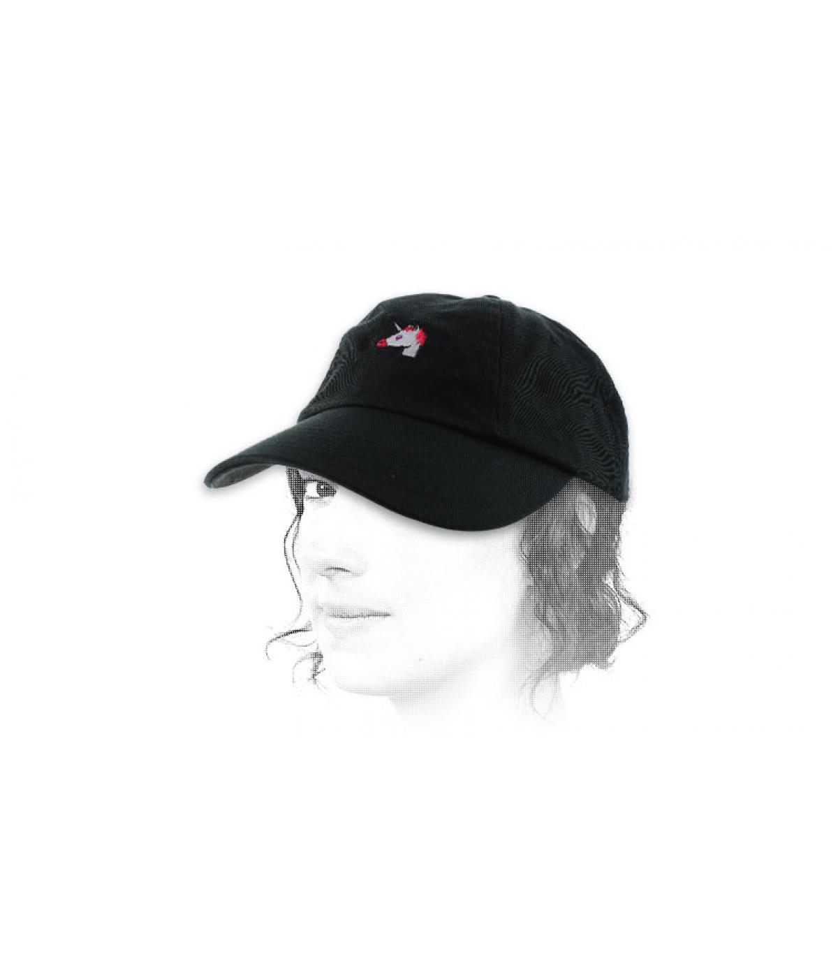 Black unicorn cap