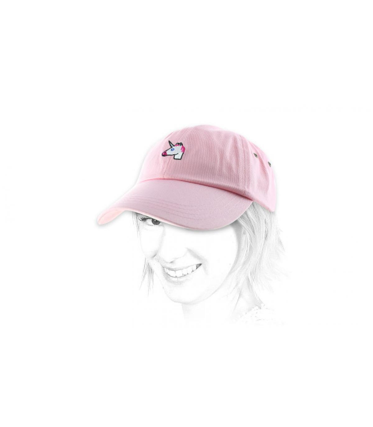 Pink unicorn cap