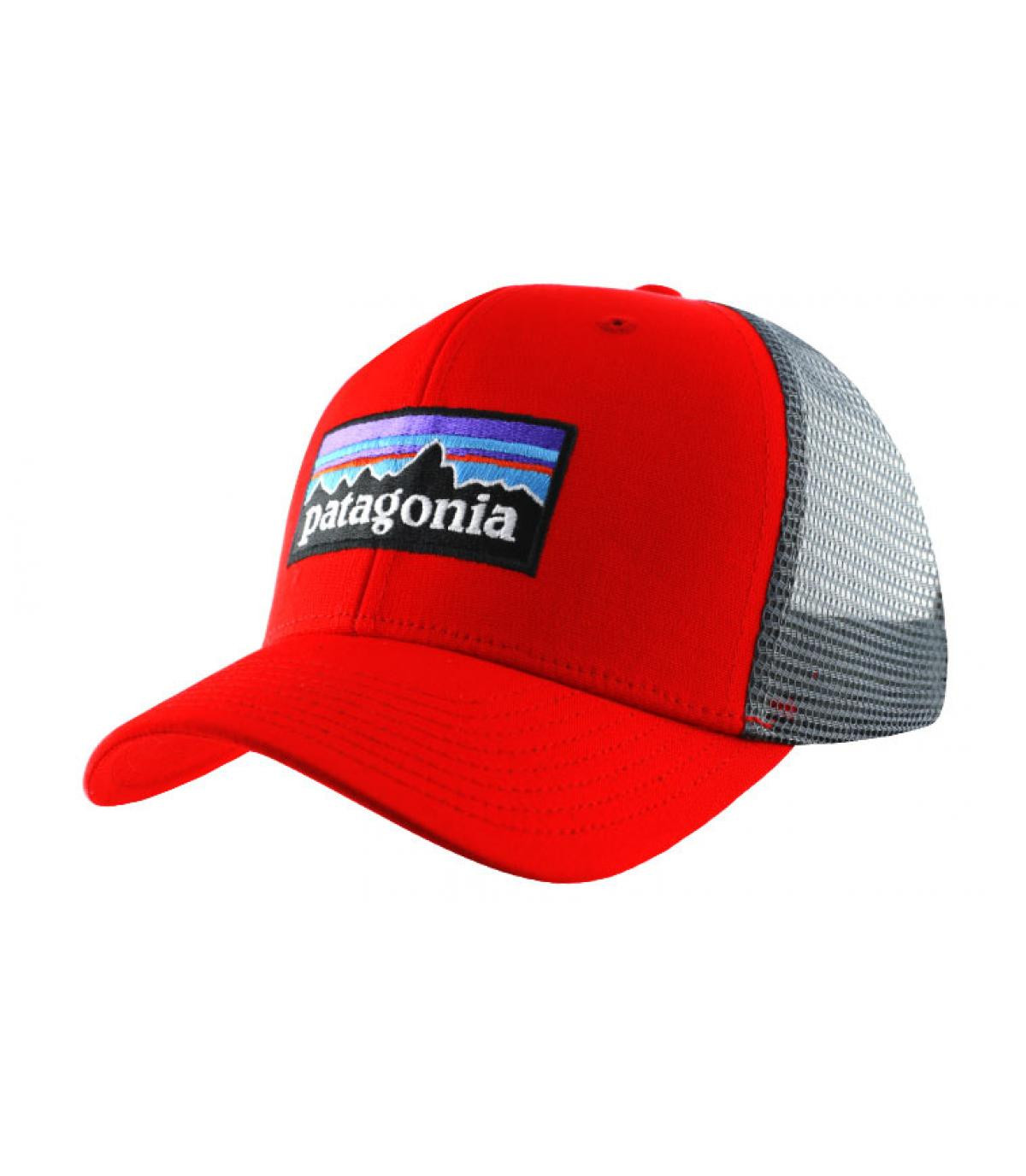 71c504d68b30d Red trucker cap - P6 logo trucker hat french red by Patagonia. Headict
