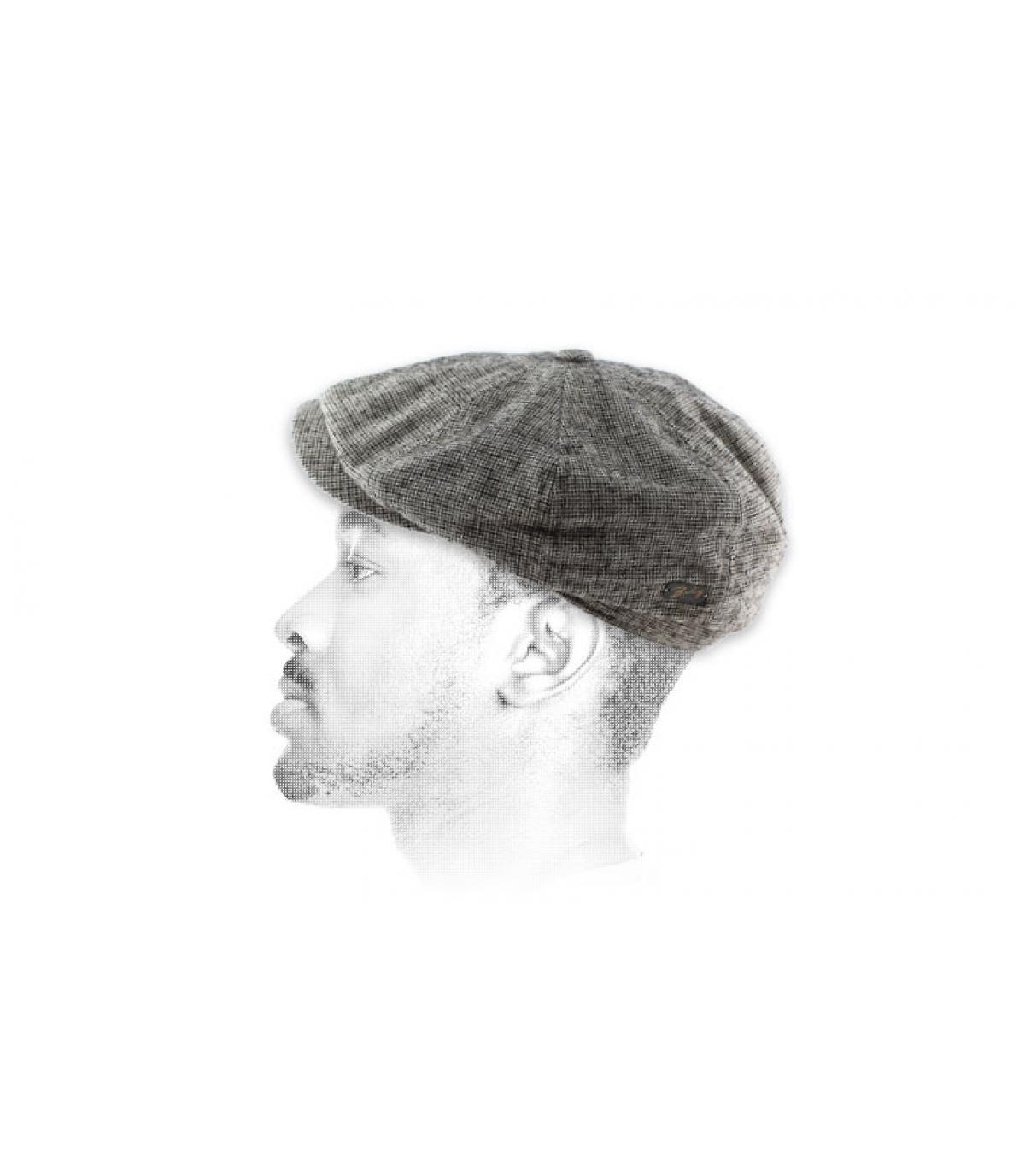 Houndstooth newboys cap