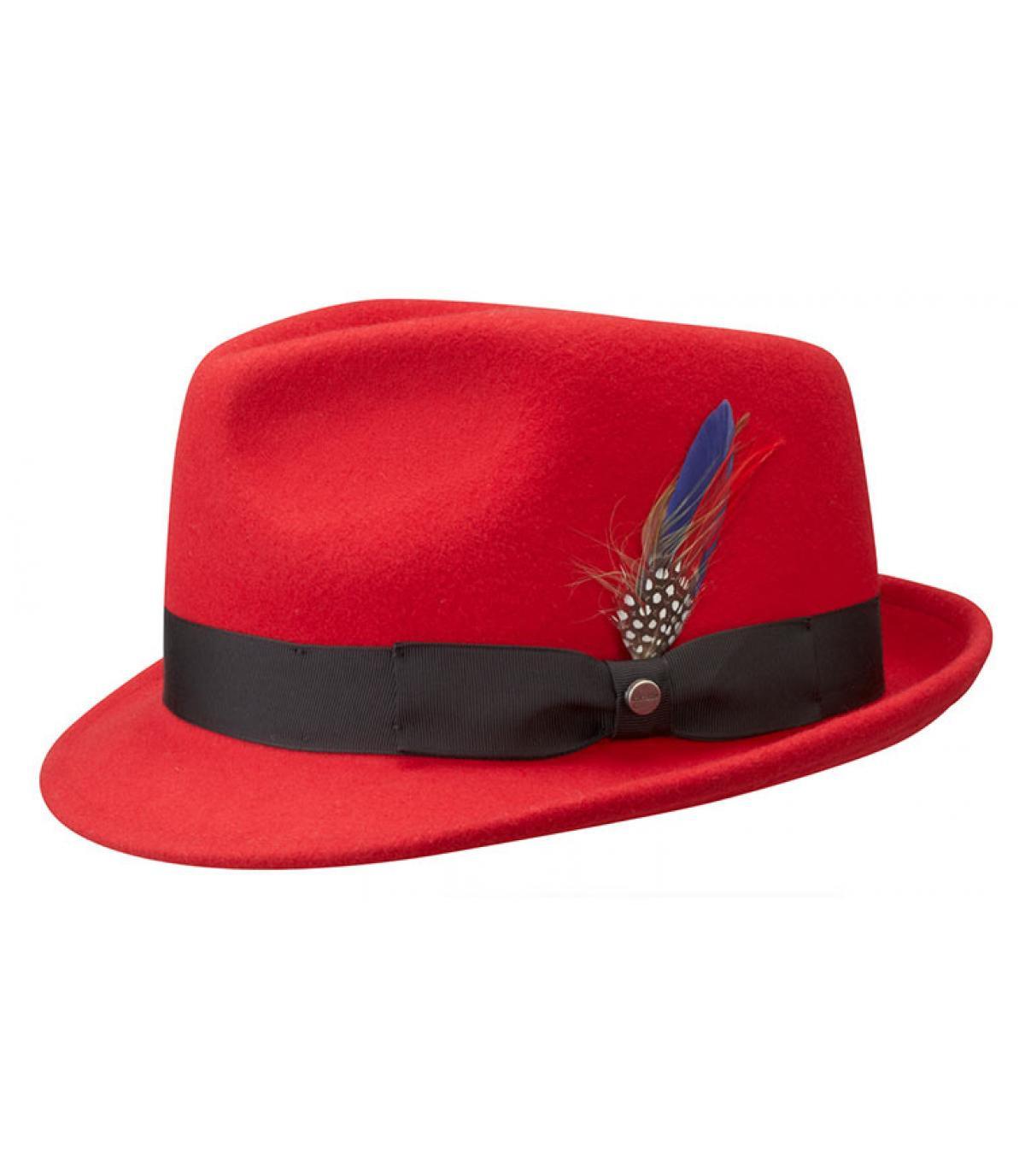 e56cff43e131c Stetson. Men red hat. Détails Boston richmond red - image 3  Détails Boston  richmond red - image ...