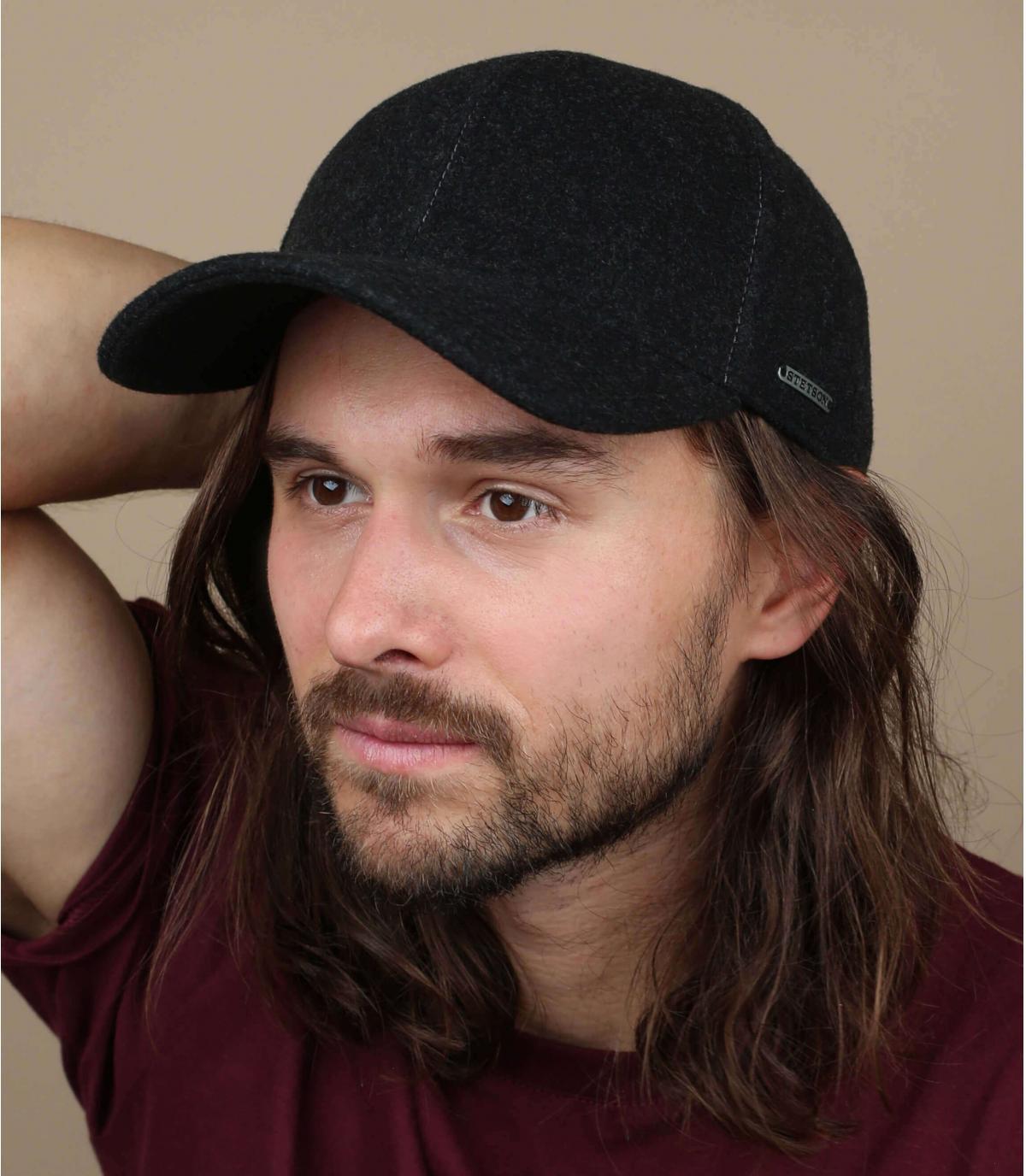Cashmere wool baseball cap