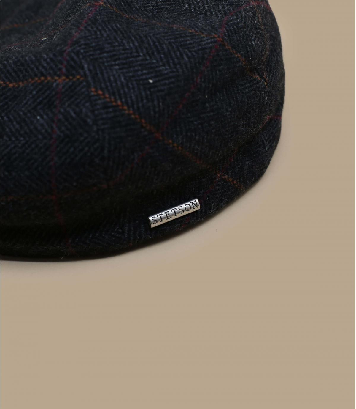 24fc7abdf8c40 Flat cap earflap - Kent wool Earflap grey by Stetson. Headict