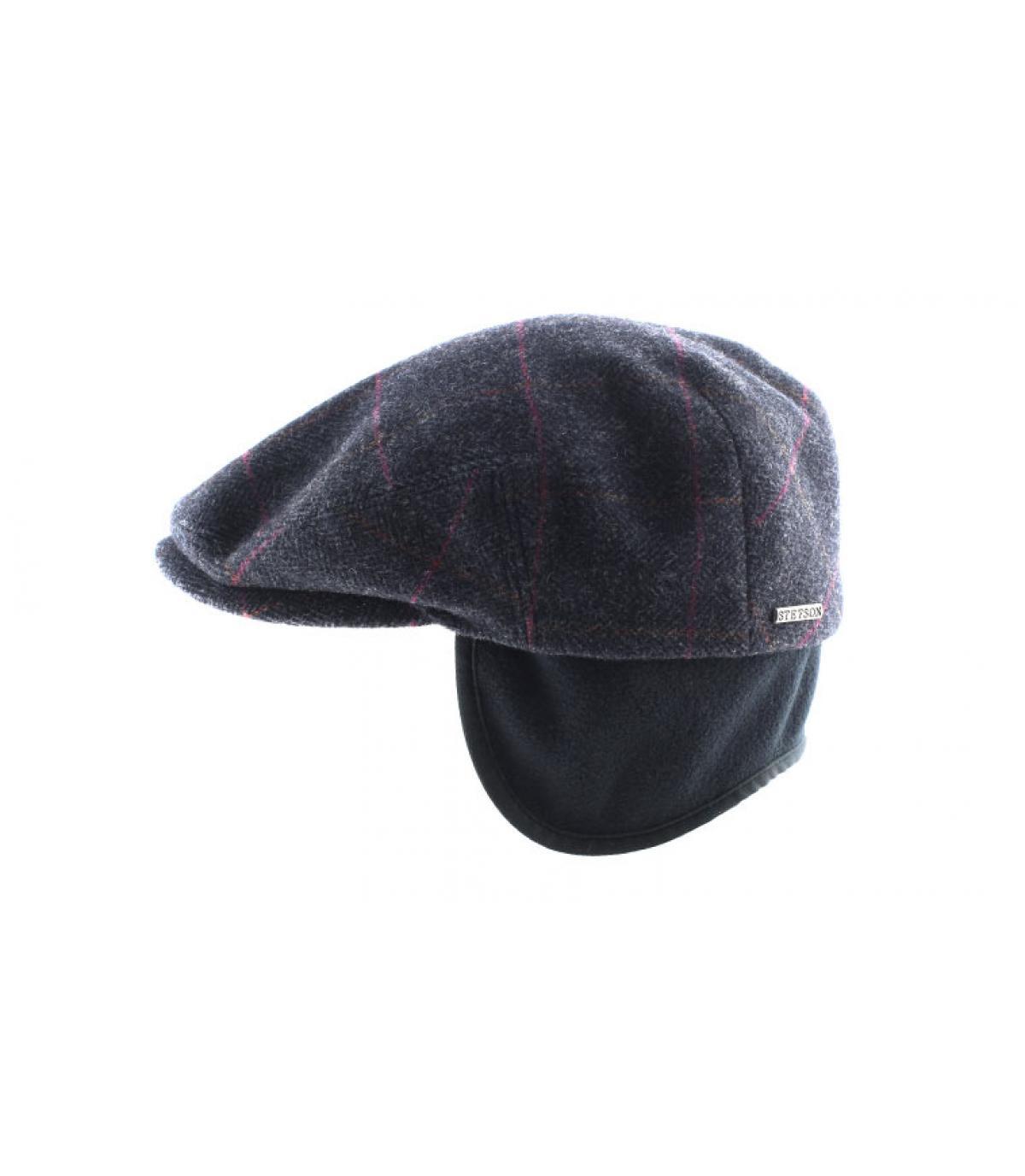 3880185c41db82 Stetson. Flat cap earflap. Détails Kent wool Earflap grey - image 4 ...