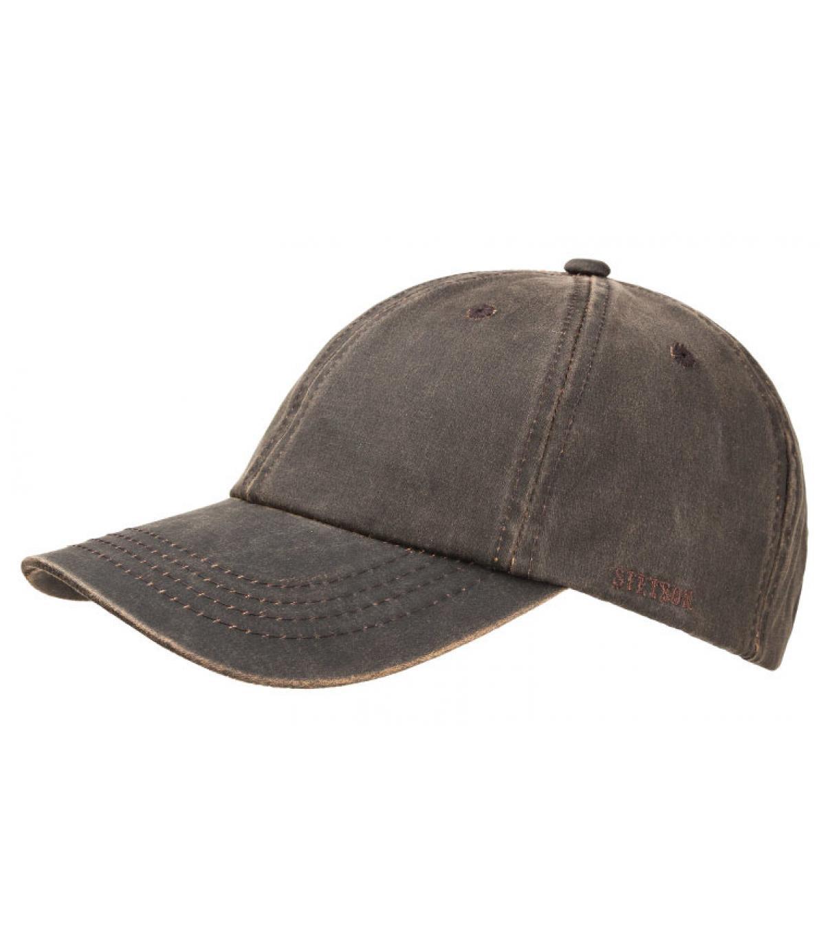 b080939ee86 Stetson. Vintage cotton baseball cap. Détails California lined brown -  image 3  Détails California lined brown - image ...