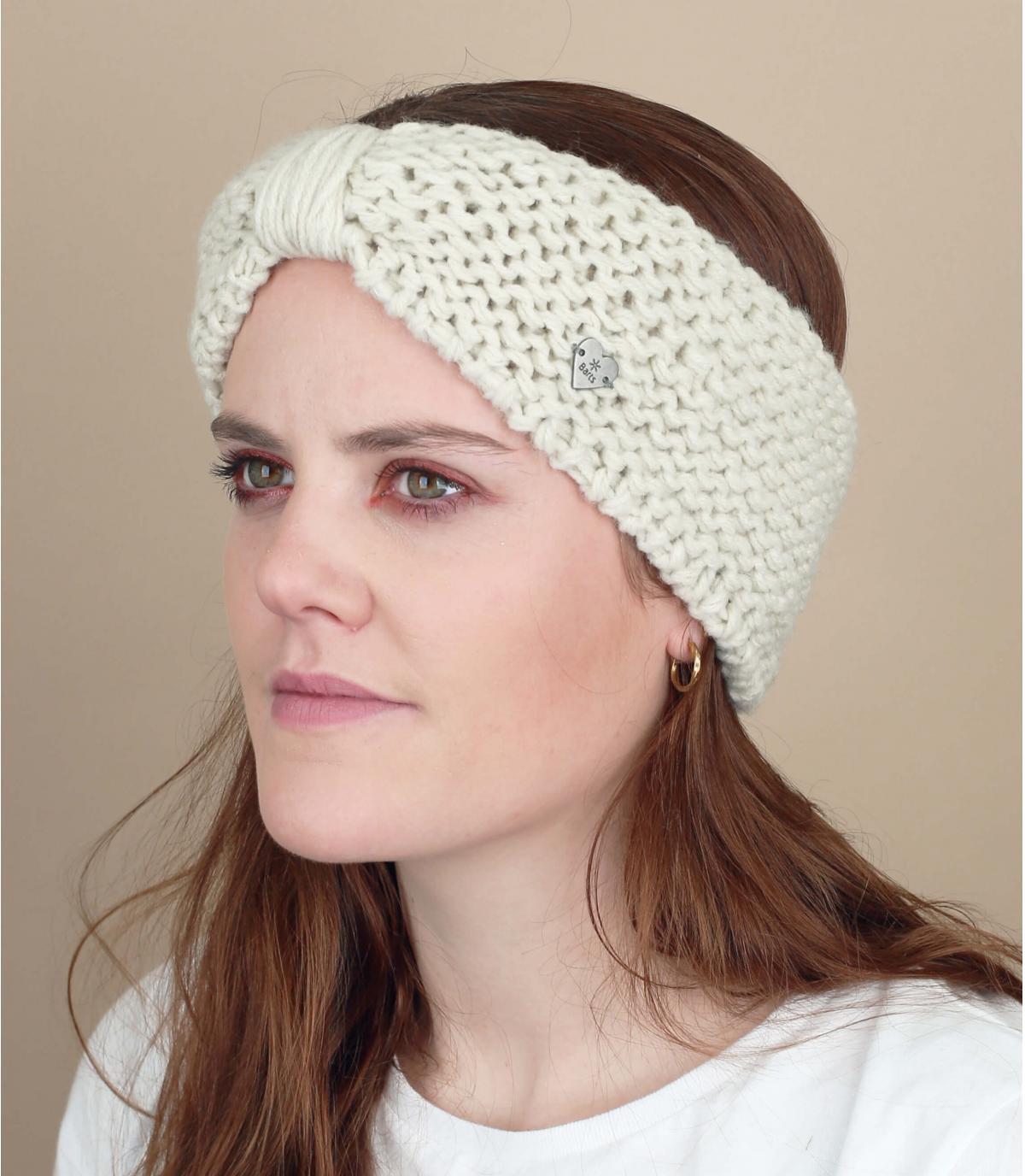 White headband bow winter