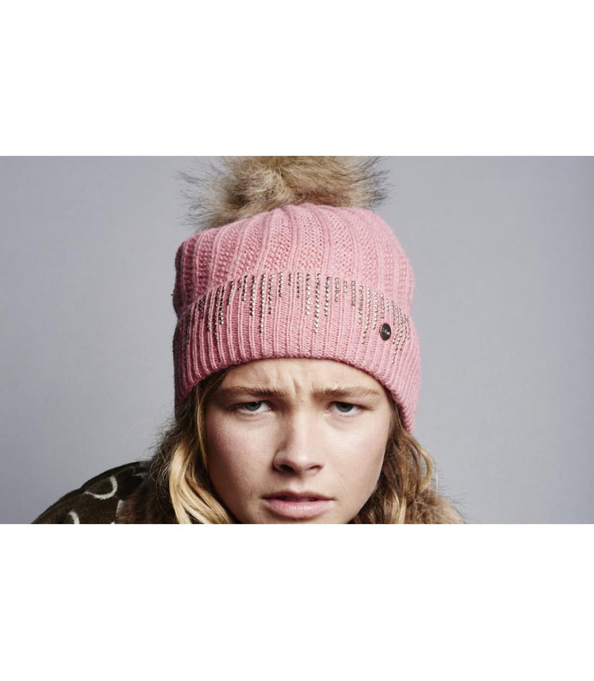 b7ce7d08d6c Rhinestones pom beanie - Marigold beanie blush by Barts. Headict