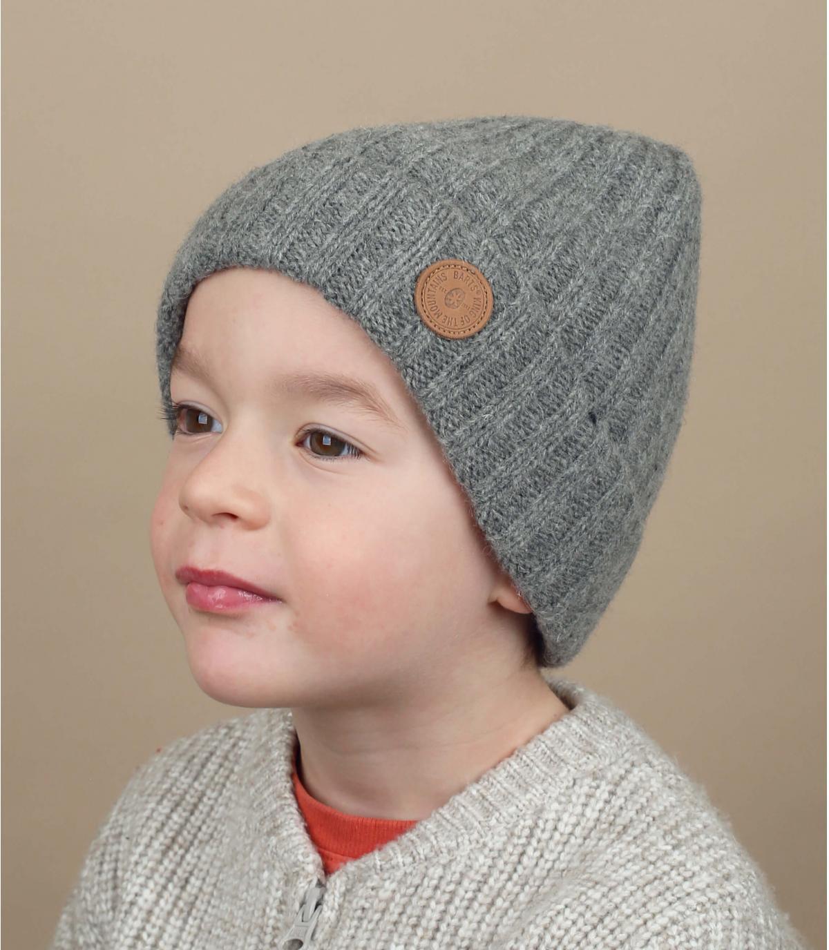 Grey kids cuff beanie