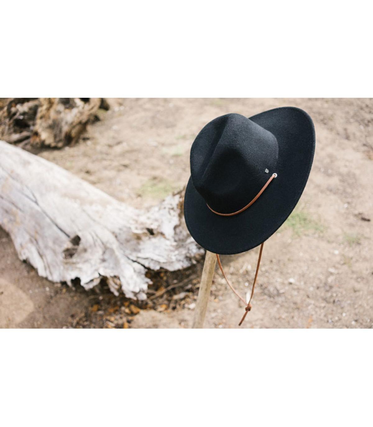 Brixton. Black fedora hat. Détails Field black - image 4 ... 0150600c1f5