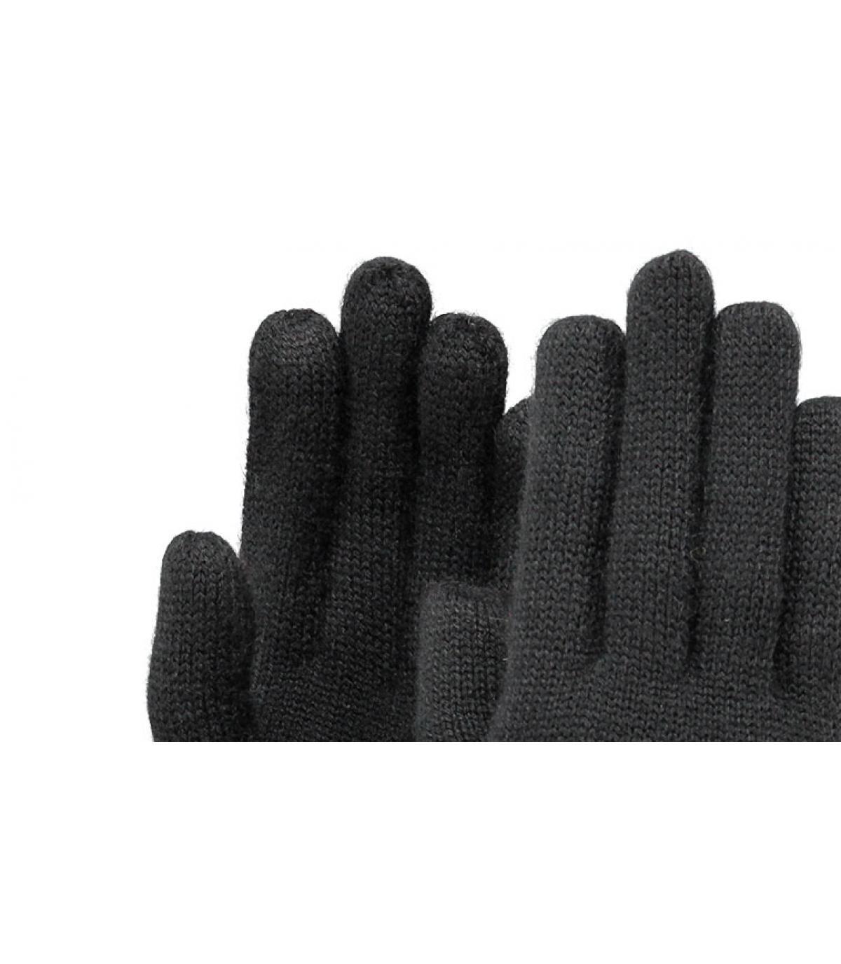 Détails Fine Knitted Gloves black M - image 2