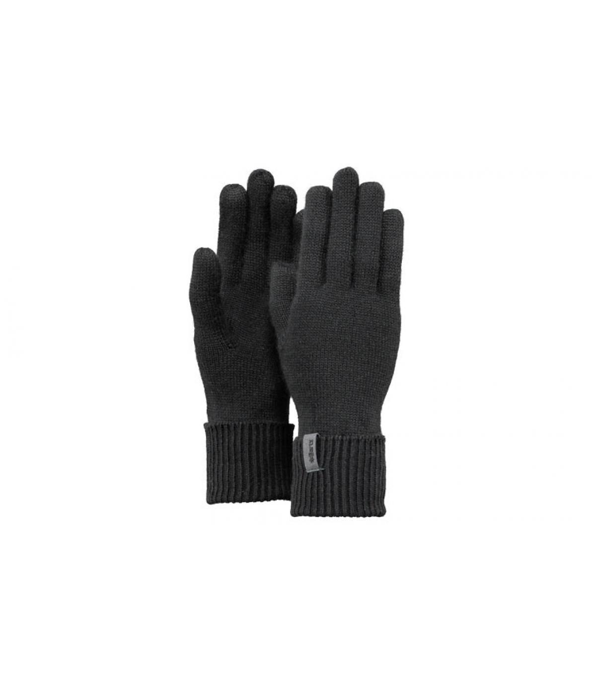 Détails Fine Knitted Gloves black M - image 3