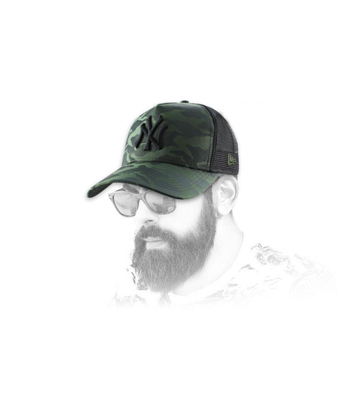 Camo trucker cap from the NY Yankees.
