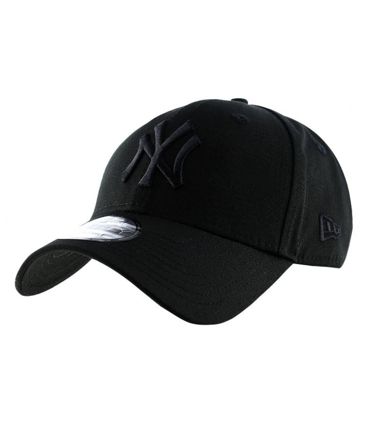 4829acc59c9 NY black baseball cap - NY league essential 9forty black cap by New ...