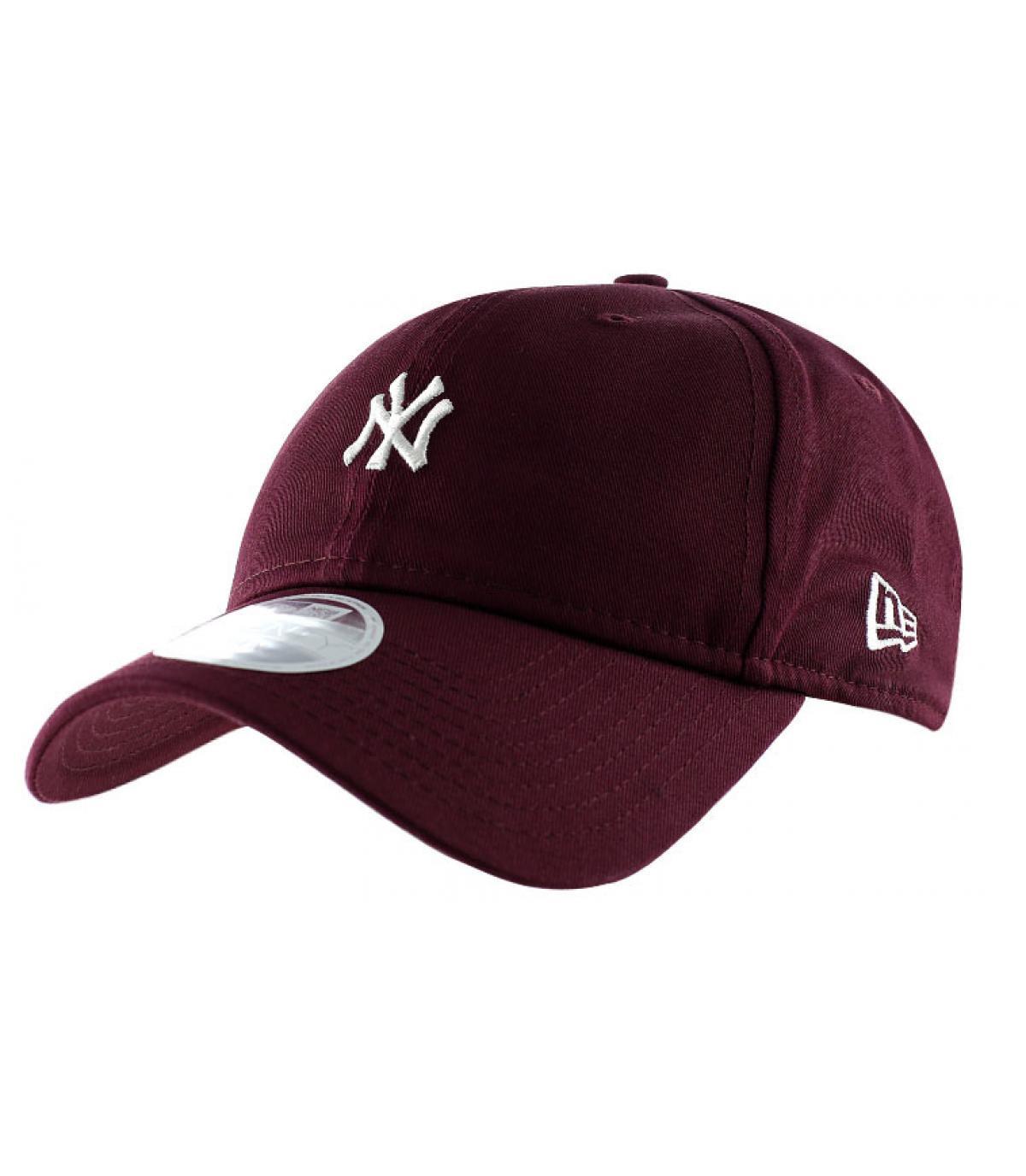 Women NY cap - Women mini logo maroon cap by New Era. Headict bcf12ccdc93